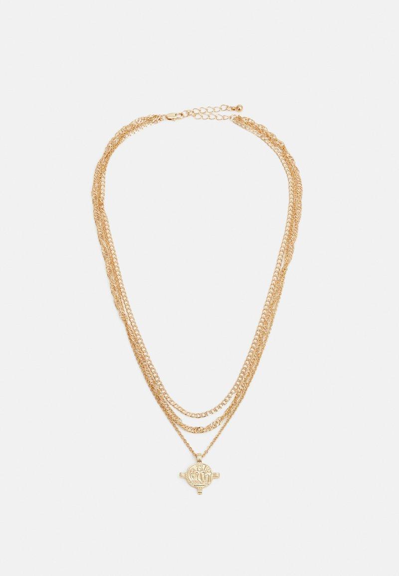 Pieces - PCVILLA COMBI NECKLACE - Necklace - gold-coloured