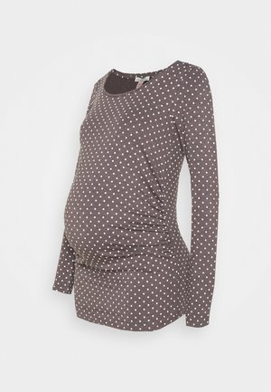 Long sleeved top - grey/white