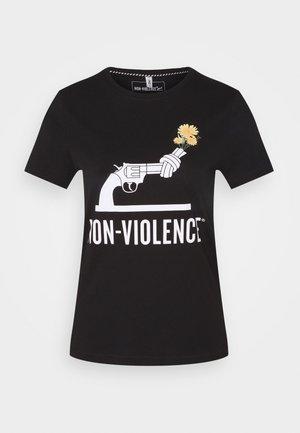 ONLNON VIOLENCE LIFE - Print T-shirt - black