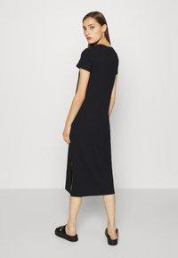 GAP - CREW MIDI DRESS - Jersey dress - true black - 2
