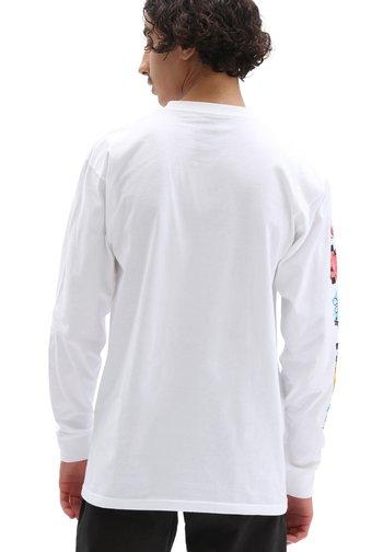 MN VANS X SPONGEBOB AIRBRUSH LS - Long sleeved top - white