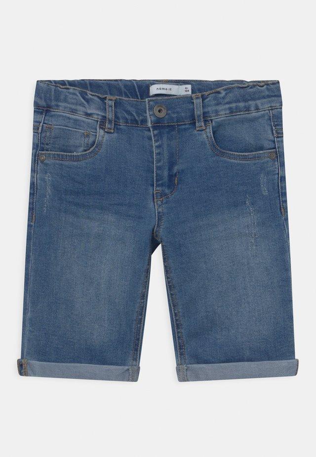 NKMSOFUS  - Denim shorts - light blue denim