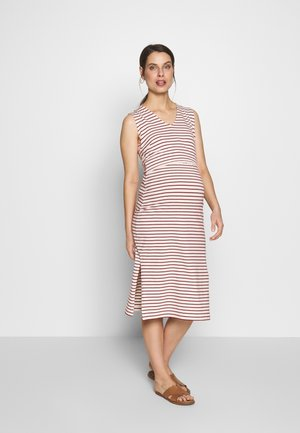 SIMONE SLEEVELESS DRESS - Vestido ligero - off-white/red