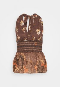 Free People - BRINKLEY SMOCKED TANK - Top - cocoa combo - 0