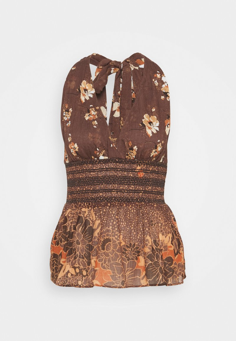 Free People - BRINKLEY SMOCKED TANK - Top - cocoa combo