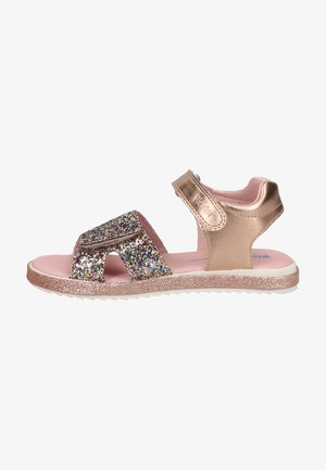 Walking sandals - gold/salmon