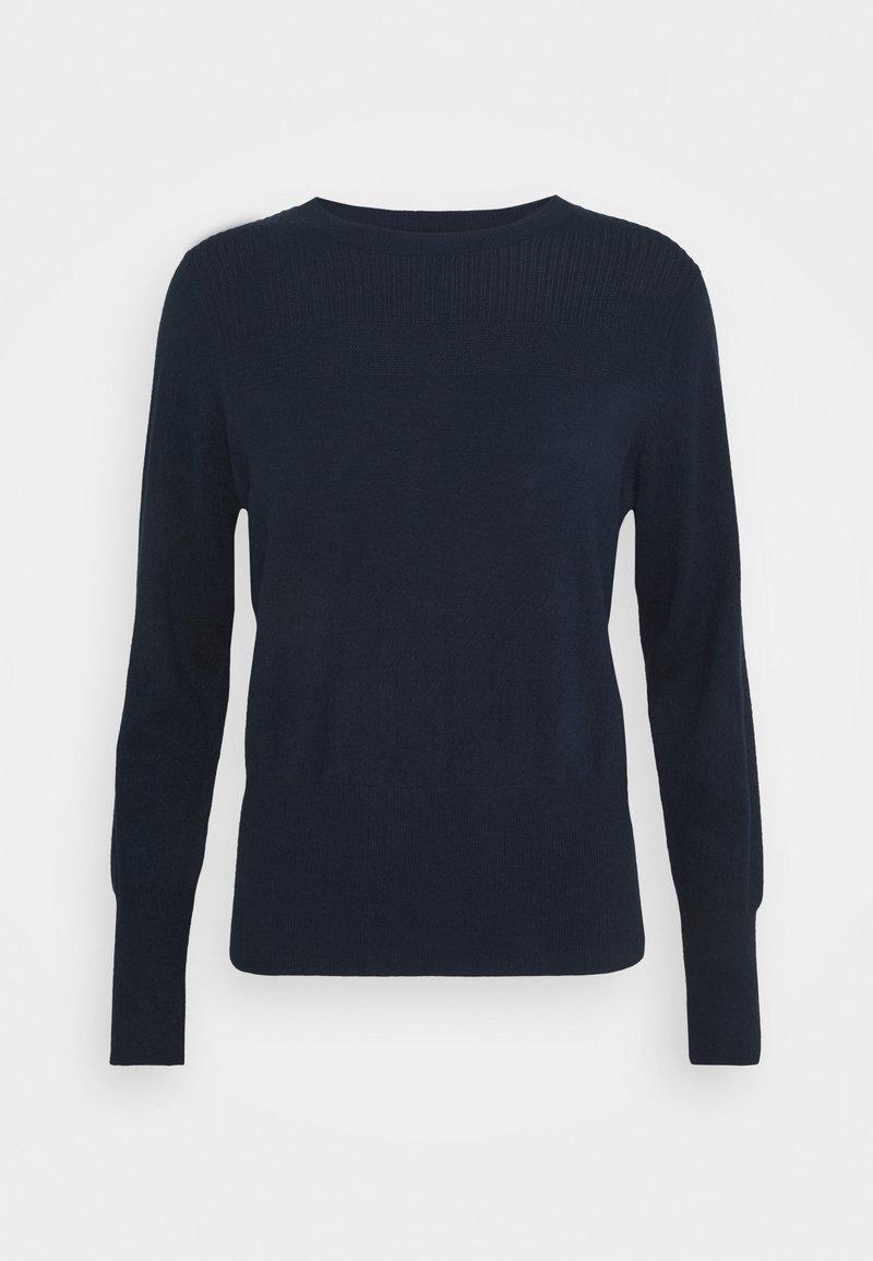 Marks & Spencer London - STITCH JUMPER - Stickad tröja - dark blue