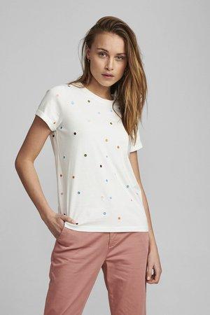 NUBRENNAN - Print T-shirt - pristine