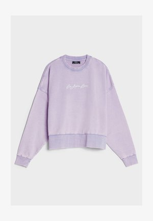MIT PRINT UND STICKEREI  - Sweatshirts - mauve