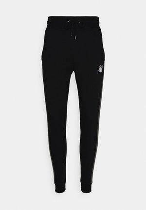 CUT AND SEW JOGGERS - Tracksuit bottoms - black
