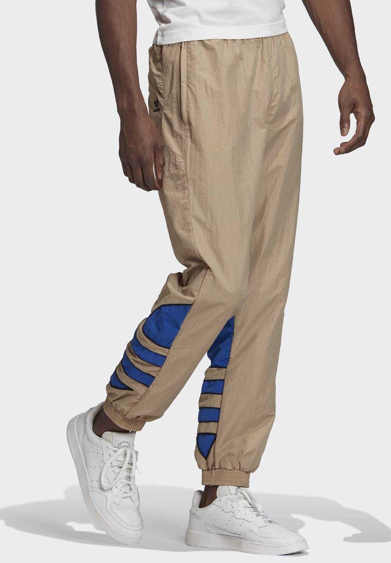 alineación enero arquitecto  adidas Originals BIG TREFOIL COLORBLOCK WOVEN TRACKSUIT BOTTOMS - Pantalon  de survêtement - brown/vert - ZALANDO.FR