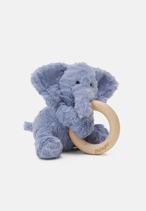 FUDDLEWUDDLE ELEPHANT WOODEN RING TOY UNISEX - Cuddly toy - blue