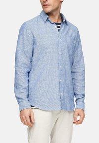 s.Oliver - Shirt - blue dobby - 4