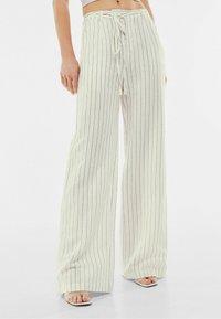 Bershka - Trousers - off-white - 0