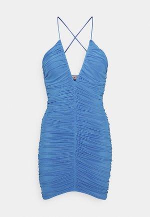 RUCHED FRONT DRESS - Vestido de cóctel - blue