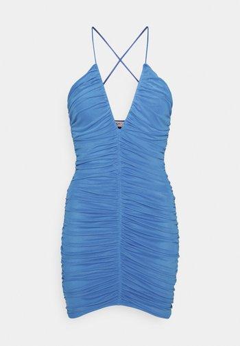 RUCHED FRONT DRESS - Vestito elegante - blue