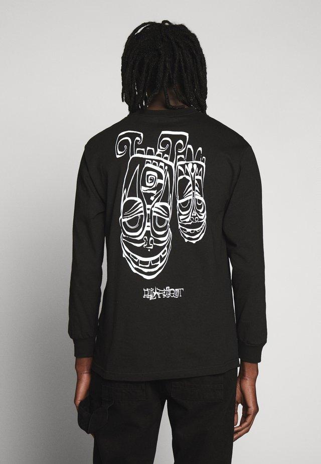 PHIL FROST TEE - Pitkähihainen paita - black