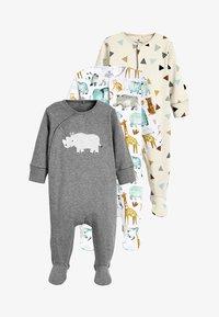 Next - THREE PACK - Sleep suit - white - 0