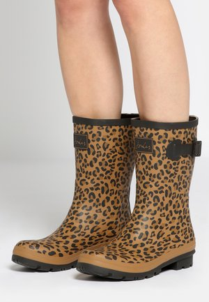 WELLY BOOTS TAN LEOPARD - Boots - brown