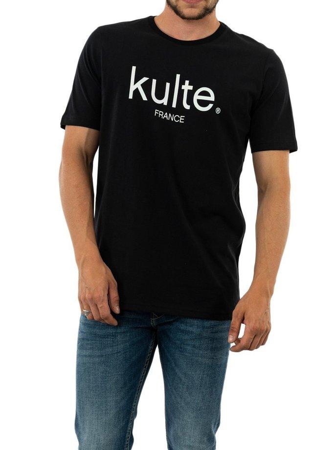 FRANCE - T-shirt imprimé - noir