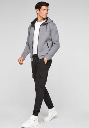 Zip-up sweatshirt - dark grey melange