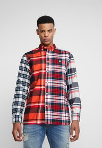 Tommy Hilfiger - LEWIS HAMILTON  MULTI CHECK SHIRT - Shirt - orange - 0