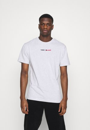 LINEAR LOGO TEE - T-shirt con stampa - grey