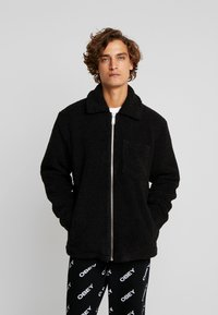 Weekday - RUSS PILE JACKET - Fleecejakker - black - 0