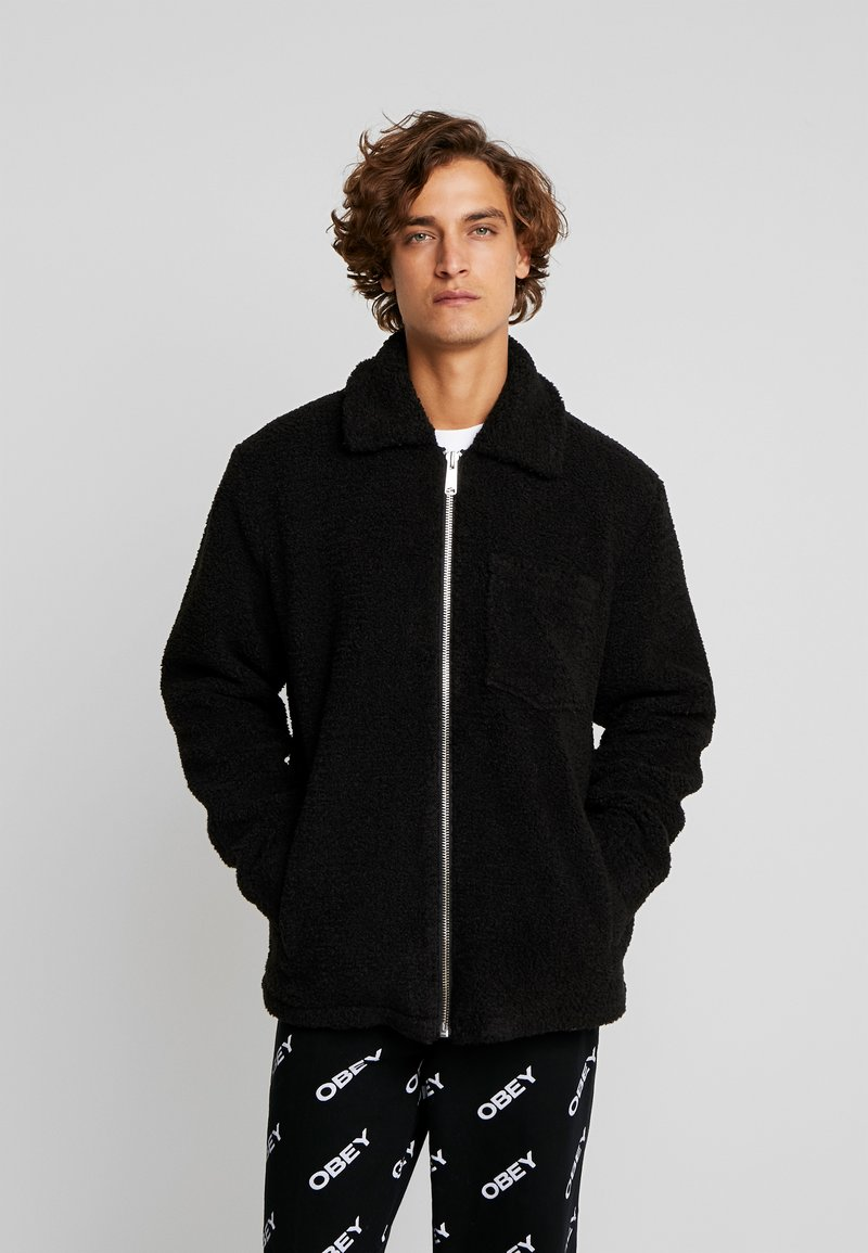 Weekday - RUSS PILE JACKET - Fleecejakker - black