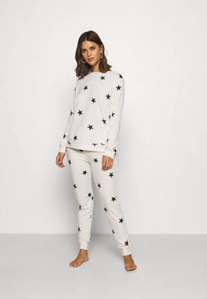 PRETTY SECRETS PRINT TWOSIE  - Pyjamas - oatmeal/black