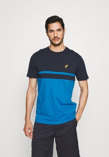 T-shirt print - dark blue / blue