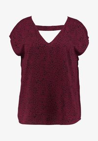Even&Odd Curvy - Blouse - dark red/black - 4