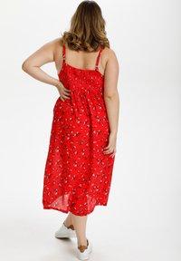 Kaffe Curve - Day dress - red flower print - 2
