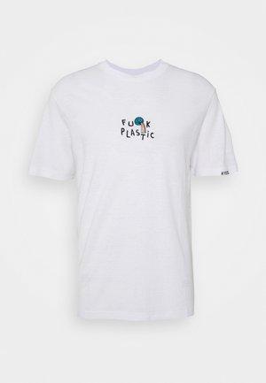 HEMP TEE  UNISEX  - Print T-shirt - white