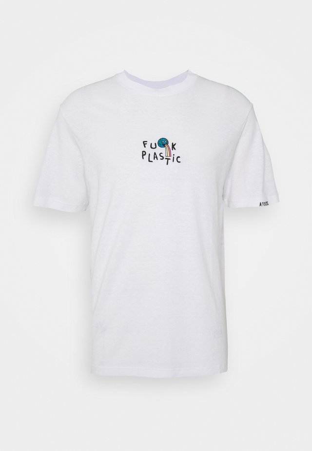 HEMP TEE  UNISEX  - Printtipaita - white