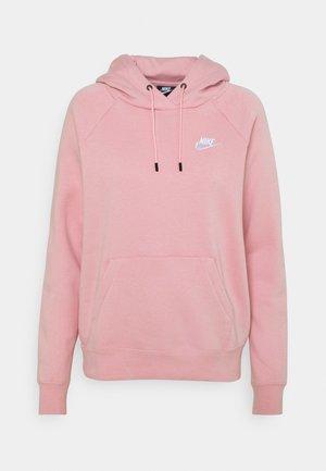 HOODIE - Collegepaita - pink glaze/white