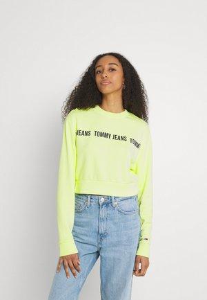 REGULAR CROPPED TAPE CREW - Sweatshirt - faded lime