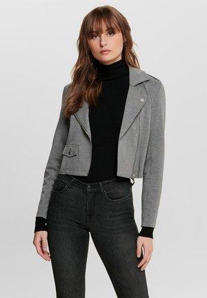ONLPOPTRASH  - Faux leather jacket - medium grey melange
