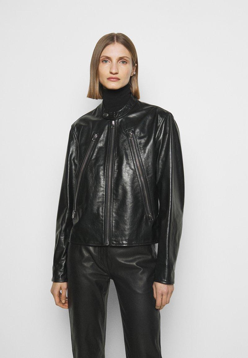 MM6 Maison Margiela - Kožená bunda - black