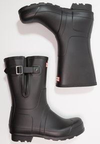 Hunter ORIGINAL - MENS ORIGINAL SIDE ADJUSTABLE SHORT - Wellies - black - 1