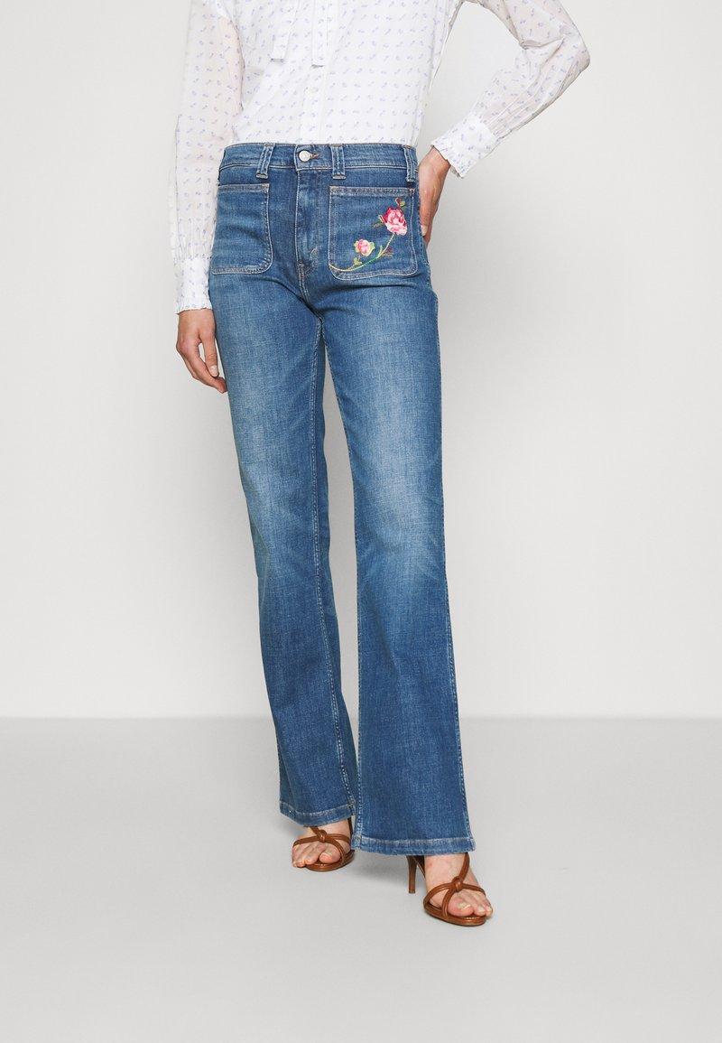 Polo Ralph Lauren - JENN FULL LENGTH FLARE - Bootcut jeans - blue