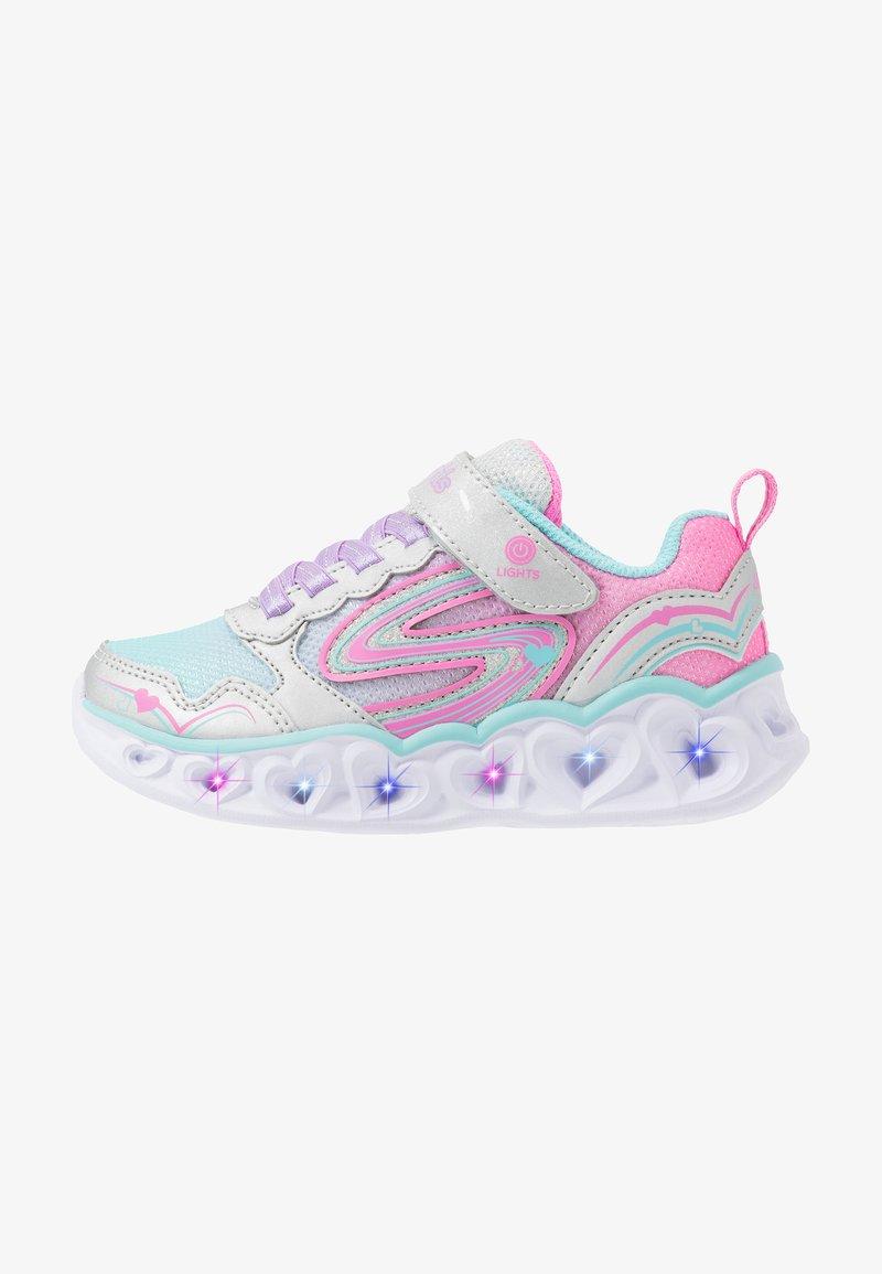 Skechers - HEART LIGHTS - Sneakers laag - silver/multicolor