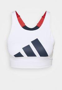 adidas Performance - ALPHA - Reggiseno sportivo con sostegno elevato - white/navy - 3