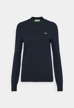 CREW BASIC - Sweter - navy blue/green