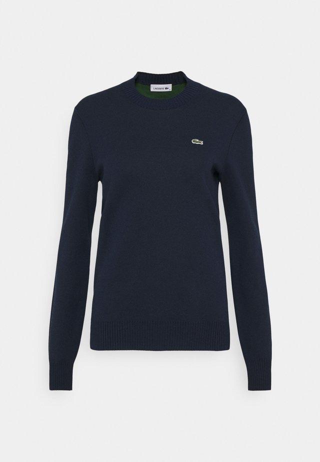 CREW BASIC - Maglione - navy blue/green