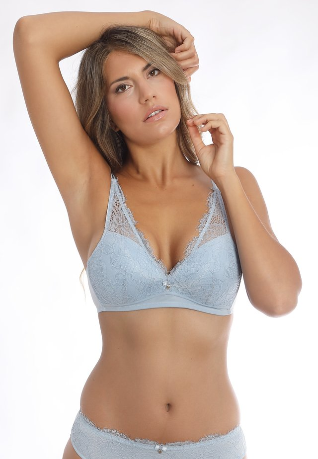 Triangle bra - morning blue