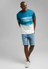 Esprit - FASHION SLUB - Print T-shirt - petrol blue - 1
