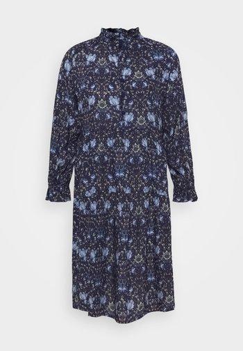 SHEER - Shirt dress - blue