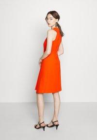 Closet - PLEATED WRAP A-LINE DRESS - Jersey dress - orange - 2