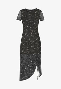 DITSY FLORAL RUCHED MIDI DRESS - Day dress - black